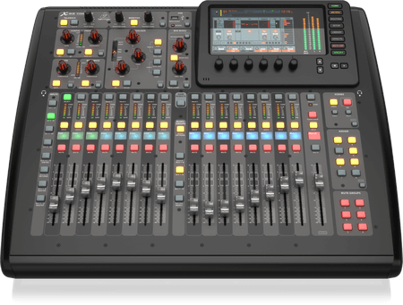 X32COMPACT BEHRINGER X-32 Compact 40-Input 25-Bus Digital Mixing Console with 16 Programmable Midas Preamps Black