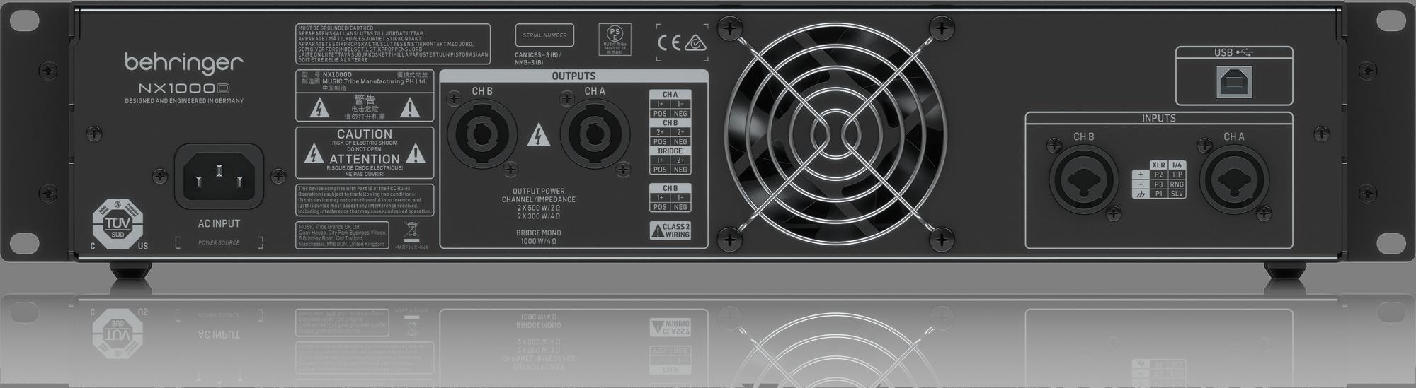 Ampli Behringer NX1000D 1000W 2 kênh có DSP
