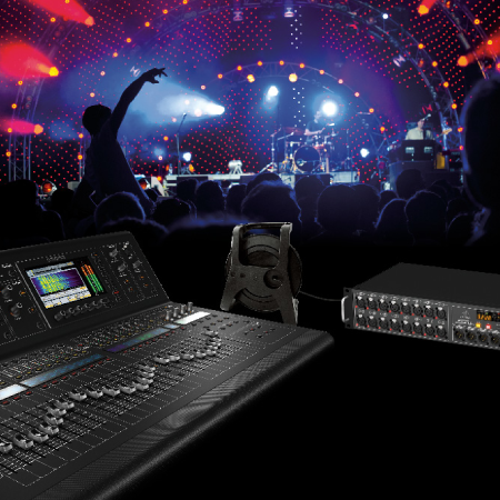 Waves SoundGrid Network Interface for Midas M32 and Behringer X32 Mixing Consoles